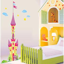 WallFree窩自在 DIY無痕創意牆貼/壁貼-童話城堡_AY1917