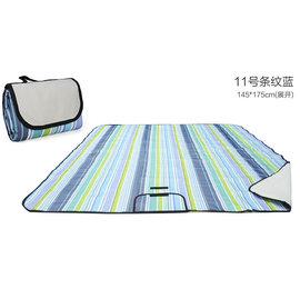 WallFree窩自在 防水耐磨戶外郊遊野餐墊/遊戲毯(小尺寸145*100CM)-藍條紋