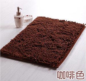 WallFree 第二代 超舒適雪尼爾長方型地毯/地墊/門墊-咖啡色