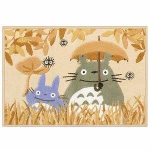 【真愛日本】13020600016地墊-灰龍貓撐傘黃好朋友  龍貓 TOTORO 豆豆龍   地墊  踏墊