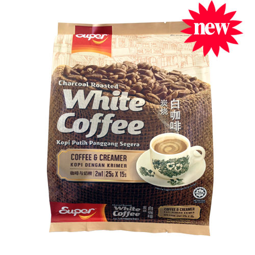 【Super 超級】2合1炭燒白咖啡(無糖)25g x 15入