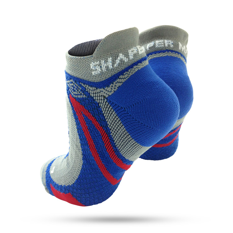 SHAPER MAN - 極限越野運動襪 MERINO WOOL-灰藍(L-XL)