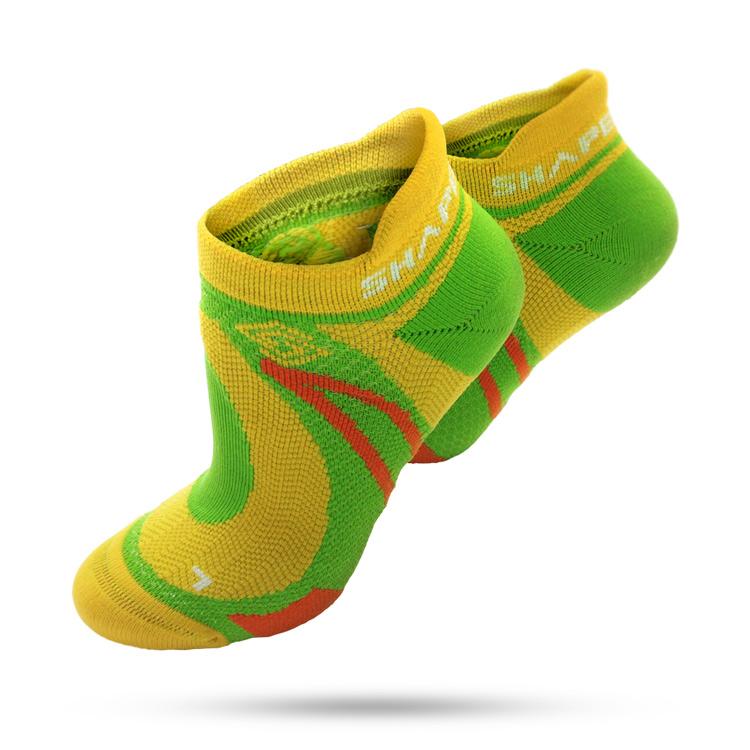 SHAPER MAN - 極限越野運動襪 MERINO WOOL-黃綠(S-M)