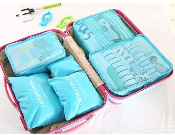 ♚MY COLOR♚韓式旅行六件組 行李箱壓縮袋旅行箱 旅行收納袋 包中包 收納袋【N14】