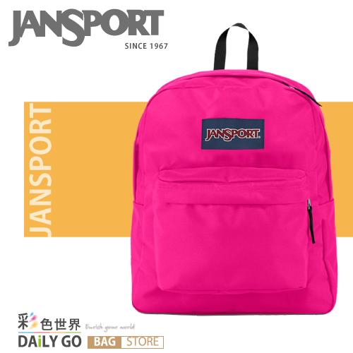 (小款包) JANSPORT 後背包 20公升-桃紅 JS-43911-01B