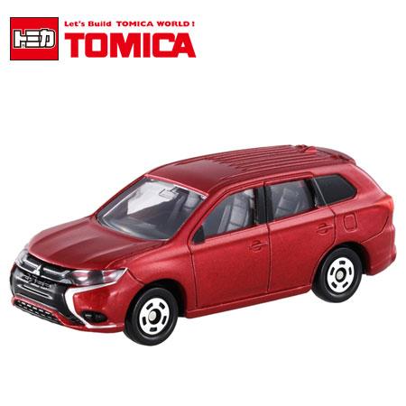 日貨 TOMICA No.70 MITSUBISHI Outlander PHEV 三菱 初回特別色 紅色 真車系列 汽車模型 多美小汽車 日本進口【N400014】