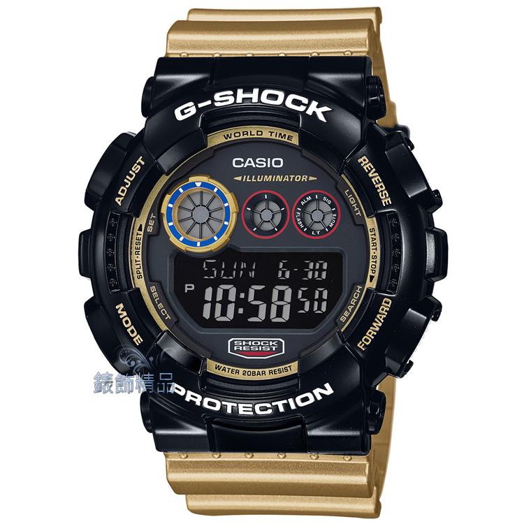 【錶飾精品】現貨CASIO卡西歐G-SHOCK大錶徑GD-120CS-1DR黑X金GD-120CS-1強烈視覺系 全新原廠正品 生日 情人節 聖誕 禮物 禮品