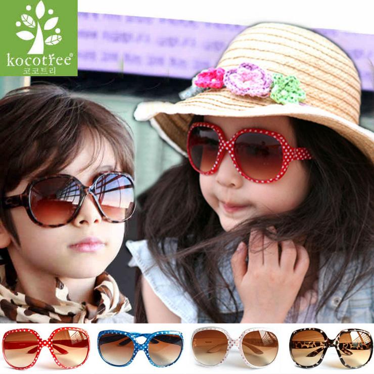 Kocotree◆時尚可愛點點俏麗豹紋兒童太陽眼鏡