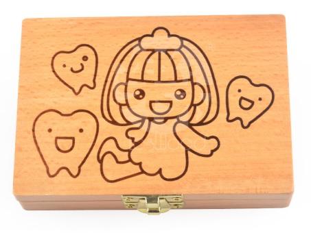 現貨 女寶  寶寶木製乳牙盒 胎毛保存盒