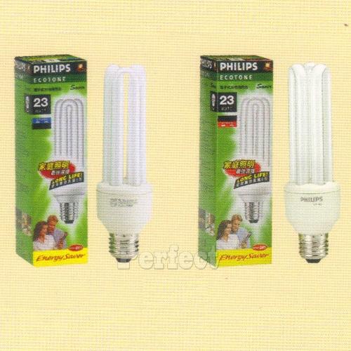 【PHILIPS ● 飛利浦】經濟型 3U23W 電子式省電燈泡 晝光色 / 燈泡色