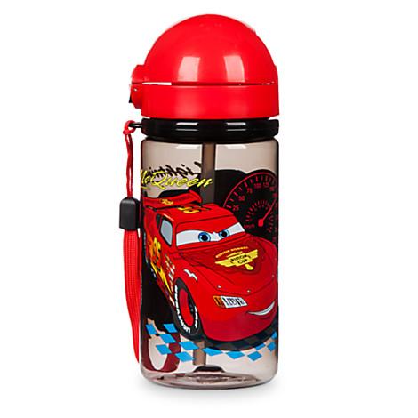 《★美國Disney Store迪士尼官方》Cars 閃電麥坤 吸管水壺 美國代購 平行輸入 溫媽媽