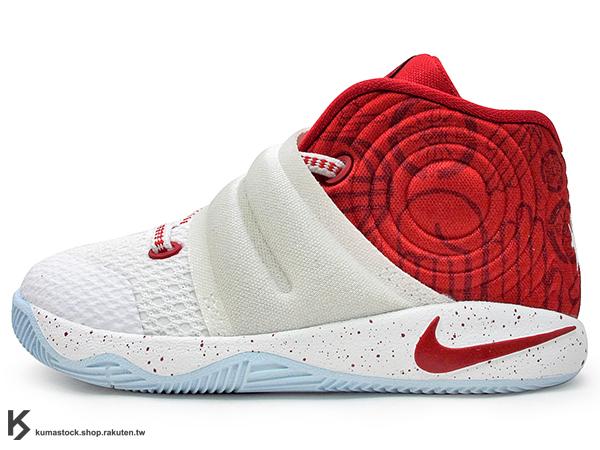 2016 Kyrie Irving 最新代言鞋款 台灣未發售 NIKE KYRIE 2 II TD BT 幼童鞋 BABY 鞋 白紅 (827281-166) !