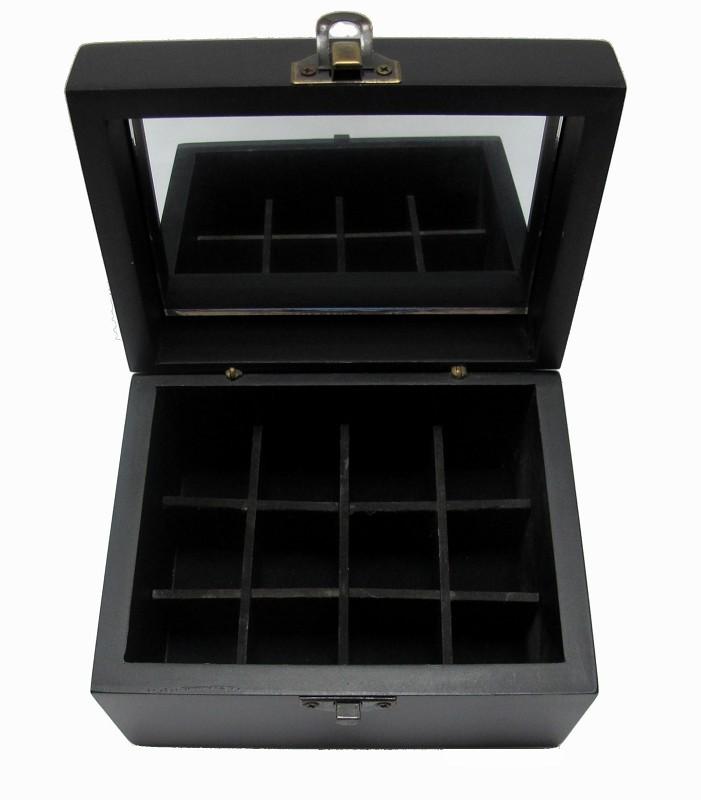 【比賣場還便宜】家居常用芳療 12格木盒 12入精油木盒 精油收納盒 精美質感木盒 木盒顏色為黑