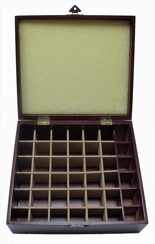【比賣場還便宜】家居常用芳療 42格紅木盒 42入精油紅木盒 精油收納盒 精美質感木盒 木盒顏色為紅黑