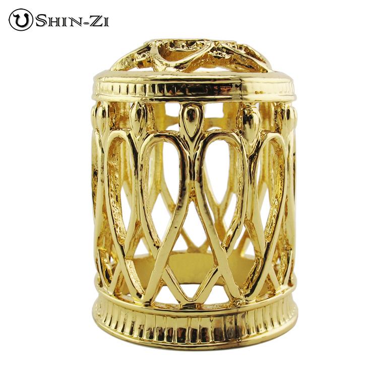 (1) (2) AH030 優雅款大薰香瓶蓋(金色、銀色)