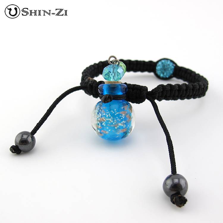 【精油瓶手環】藍色精油瓶手環  琉璃手環 香水手環 獨一無二