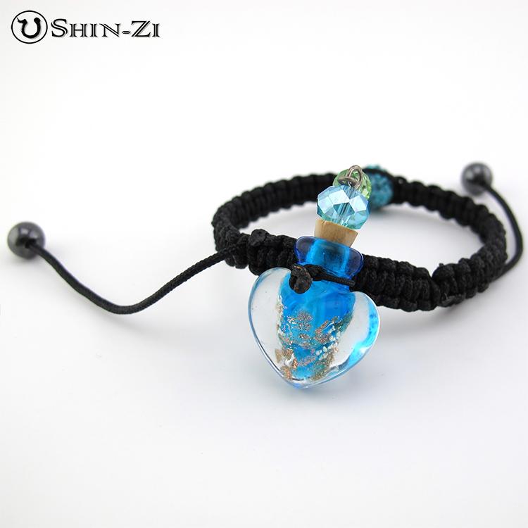 【精油瓶手環】藍色(大)精油瓶手環  琉璃手環 香水手環 獨一無二