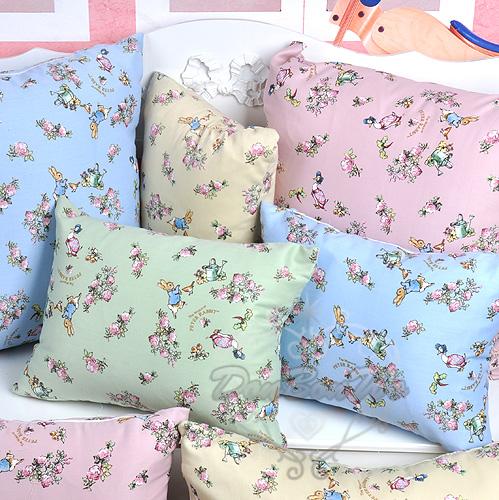 彼得兔枕頭抱枕靠枕花鳥款方型大110907海度