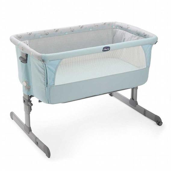 義大利【Chicco】Next 2 Me多功能移動舒適嬰兒床(湖水藍)*新色上市(預購1月中到)