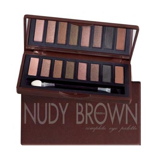 泰國正品》 Mistine nudy brown大地色8色眼影盤