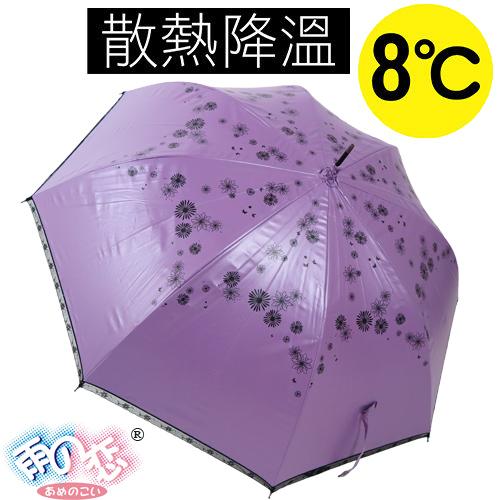 ◆日本雨之戀◆ 降溫8℃直自動傘-日羽織 「亮紫內黑 」遮陽傘/雨傘/晴雨傘/降溫傘