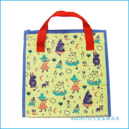 asdfkitty可愛家☆MOOMIN 嚕嚕米輕量保溫便當袋/手提袋/購物袋-也可保冷-日本正版商品