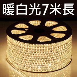 【鄉野情戶外專業】 露營專用LED5050 加寬防水燈條(暖白光)/露營燈 串燈 裝飾燈/附收納袋 【7米 附插頭】
