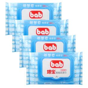 bab培寶 護膚柔濕巾90抽4包
