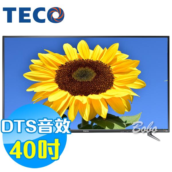 TECO東元 40吋 TL40K1TRE LED液晶顯示器 液晶電視(含視訊盒)