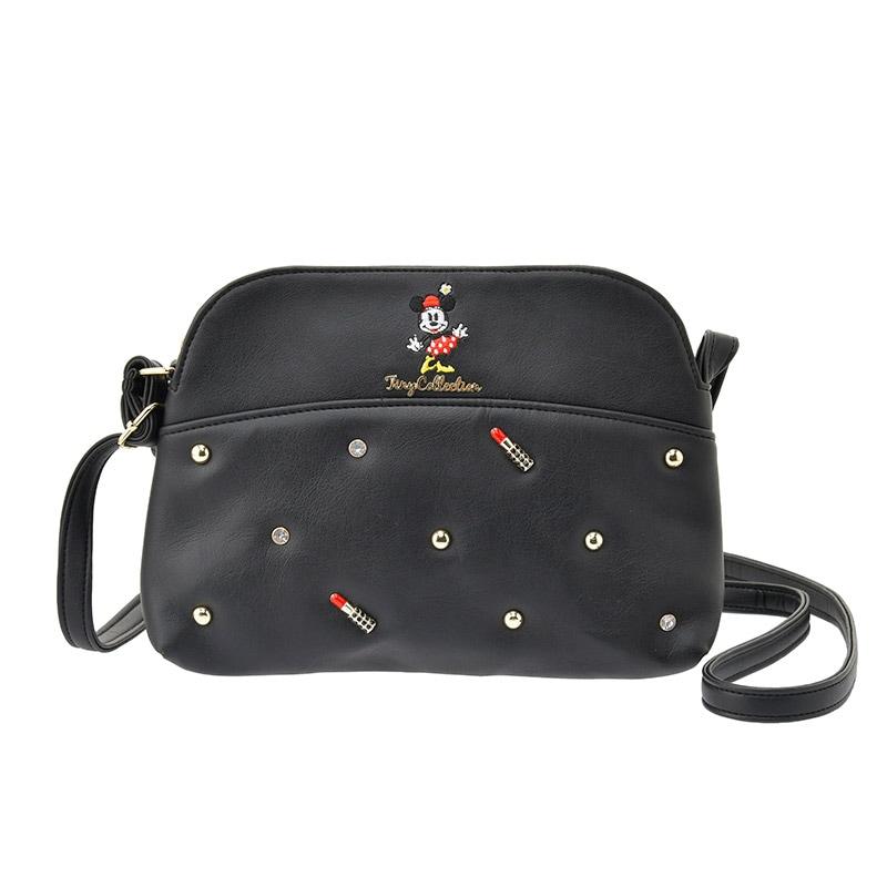 【真愛日本】Tiny斜背包-米妮黑   迪士尼 米老鼠米奇 米妮  專賣店限定  日本帶回