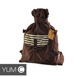 【風雅小舖】【美國Y.U.M.C. Melrose休閒系列Veshmeshok Rucksack 帆布束口袋後背包 栗色】電腦包/雙肩包