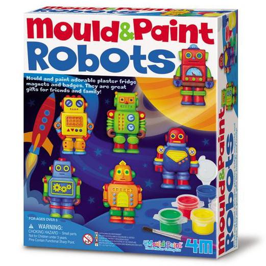 【4M 創意 DIY】Robots M&P Robot 機器人(製作磁鐵)