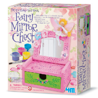 【4M 創意 DIY】Paint& Make Your Own Fairy Mirror Chest 花精靈梳妝台