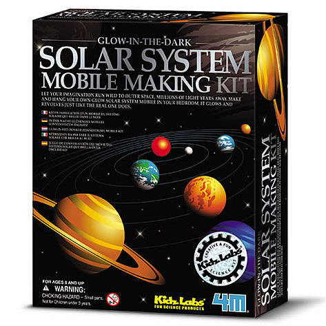 【4M 創意 DIY】Glow Solar System Mobile Making Kit 太陽系