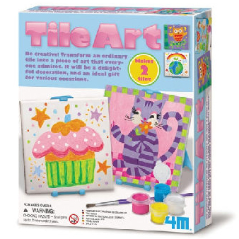 【4M 創意 DIY】Tile Art 彩繪方塊磚