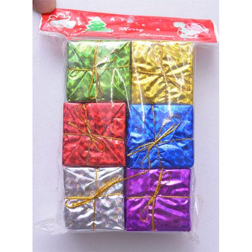 【X mas聖誕特輯2014】6入裝飾禮物盒-中 BT-5583