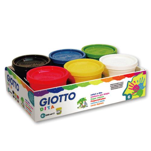 【義大利 GIOTTO】幼兒安全手指膏(6色)200ml 535000