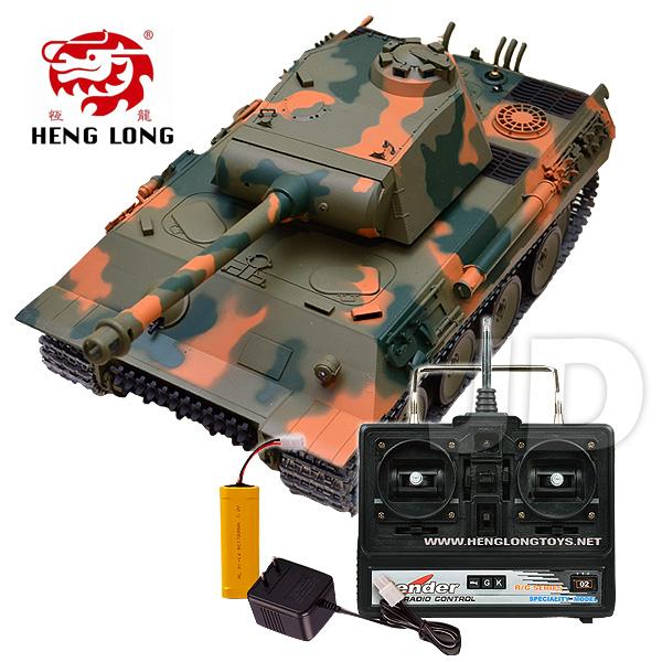【Heng Long 恆龍遙控戰車】1:16 無線電德國豹式遙控冒煙坦克 (#3819-1)