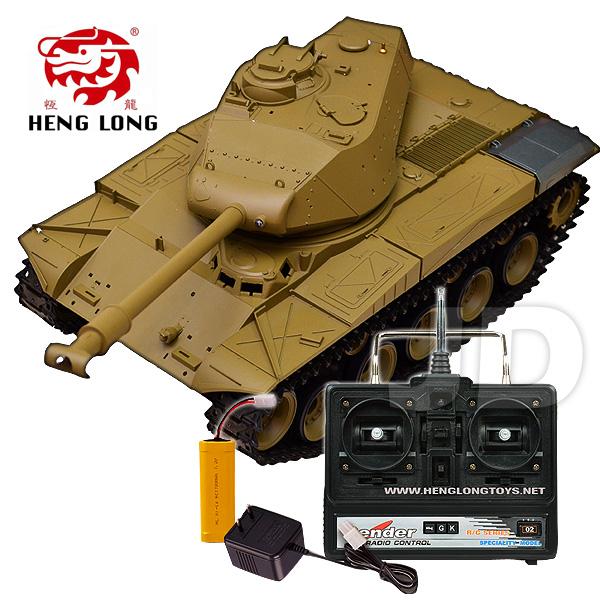 【Heng Long 恆龍遙控戰車】1:16 無線電美國華克猛犬遙控冒煙坦克 (#3839-1)