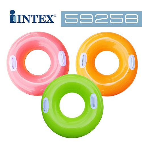 【INTEX】30吋成人把手泳圈-共三色 (59258)