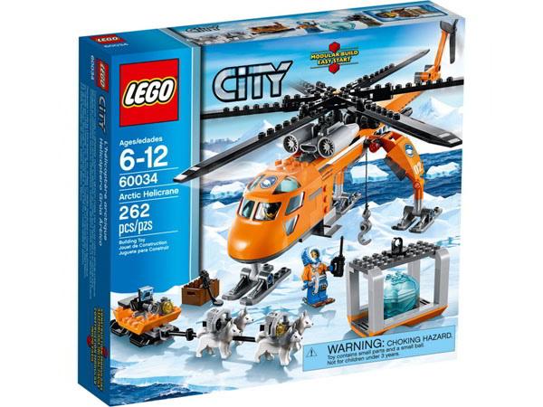 【LEGO 樂高積木】 City 城市系列 - 極地直升起重機 LT 60034