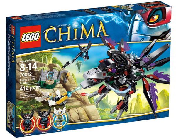 【LEGO 樂高積木】 Chima 神獸傳奇系列 - 魔盜鴉 Razar 追擊 LT 70012