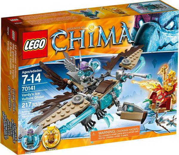 【LEGO 樂高積木】Chima 神獸傳奇系列-陰狠鷲Vardy的冰雪禿鷹滑翔機 LT 70141