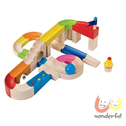 【Selecta 木製遊戲玩具】叮咚軌道球積木組 BCST0025