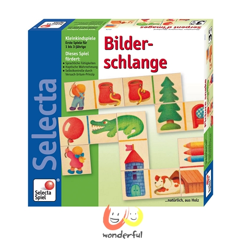 【Selecta 木製遊戲玩具】木片拼圖接龍 BCST0064