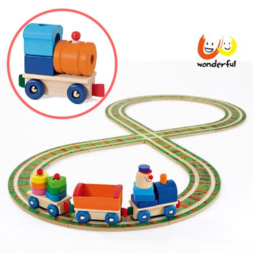 【Selecta 木製遊戲玩具】軌道小火車建構積木組(加送火車頭) BCST0119+BCST0120