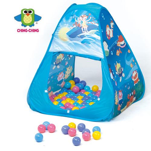 【親親Ching Ching】海洋三角帳篷球屋+100球 CBH-01