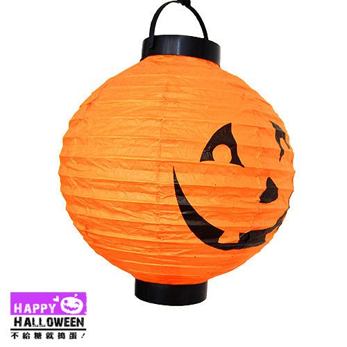 【派對服裝-紫標】吊飾-紙燈籠 (橙-南瓜)( 派對服裝系列滿額599元加送南瓜糖袋1個 )