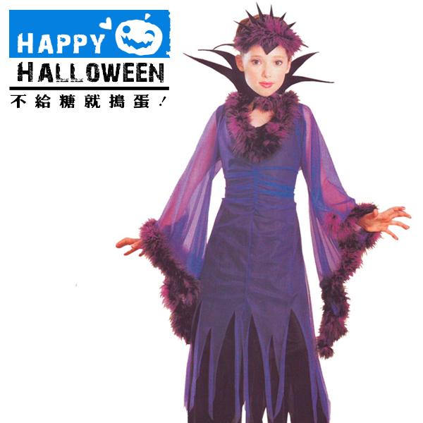 【派對服裝-藍標】小紫巫婆裝 F0193399( 派對服裝系列滿額599元加送南瓜糖袋1個 )