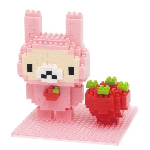【Nanoblock 迷你積木】拉拉熊妹兔子與草莓 NBH-071